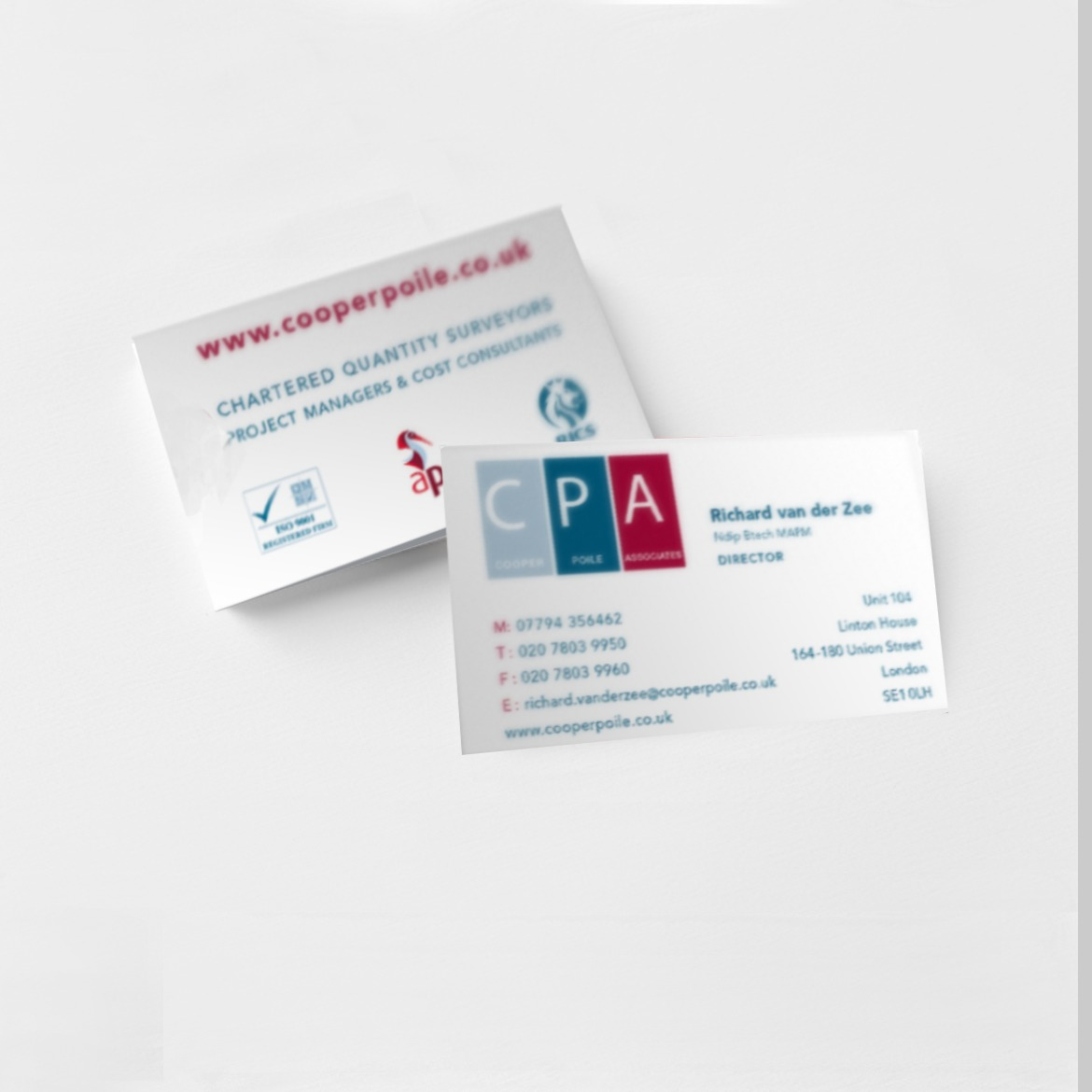 business cards printer in london for cpa