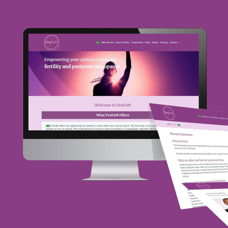 london website design ideas for profam