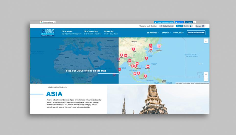 web design company in london presenting uniqueworld