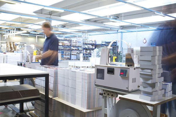 litho printers in london stacking paper